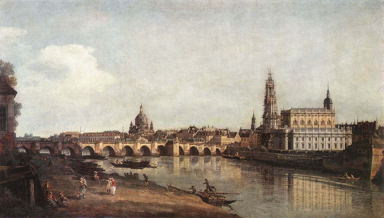 file bernardo bellotto il canaletto view of dresden from the right bank of the elbe with the. Black Bedroom Furniture Sets. Home Design Ideas