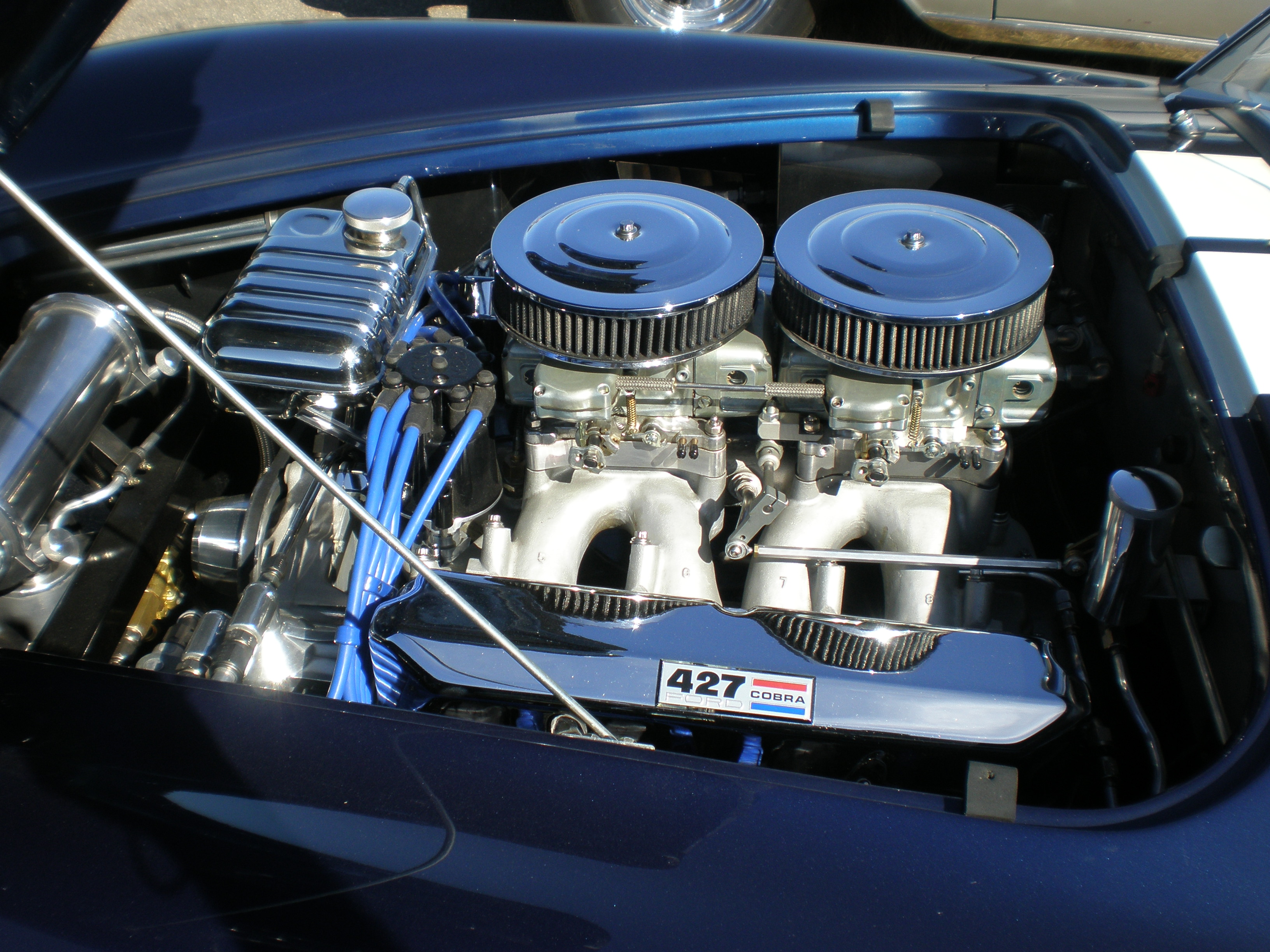 file blue ac cobra 427 engine jpg