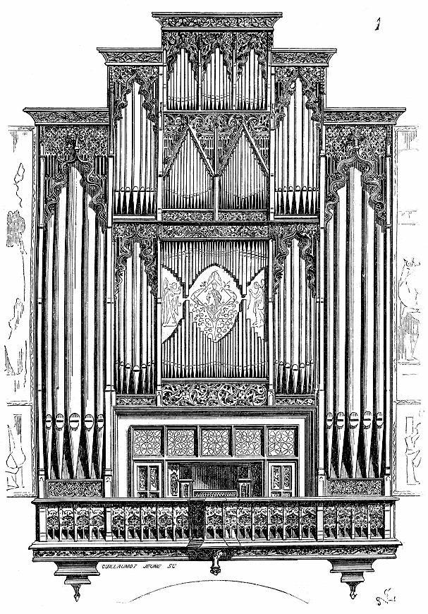 Organ of Saint-Jean-Baptiste cathedral, in Perpignan