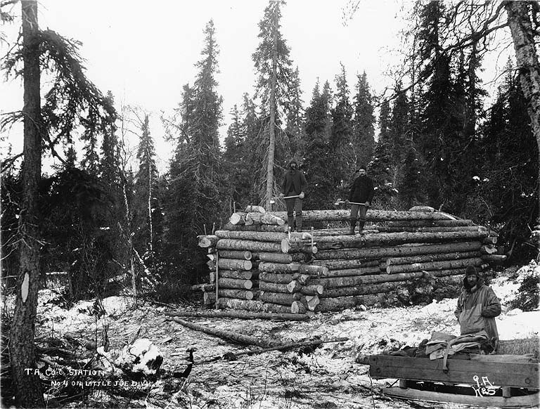 File building a log cabin wikimedia commons for Alaska log home builders