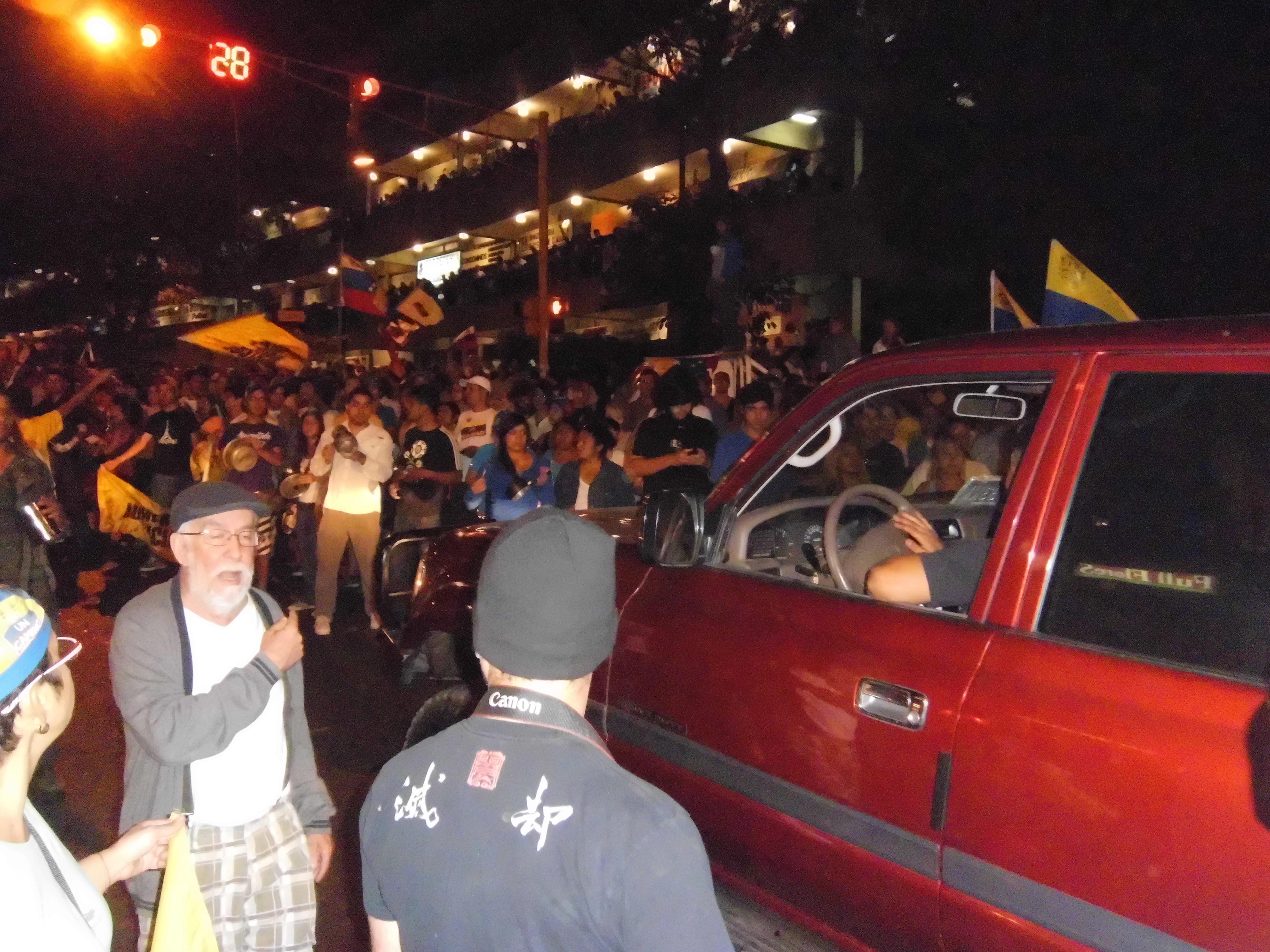 A Cacerolazo versus Nicolás Maduro protest march in La Boyera Municipal of Hatilla in Miranda state in Venezuela