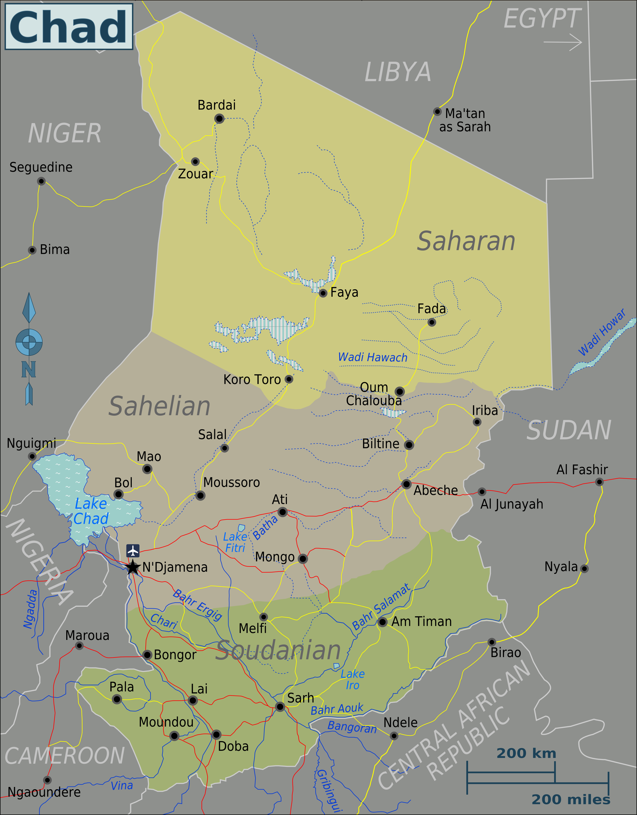 FileChad Regions Mappng Wikimedia Commons - Chad map