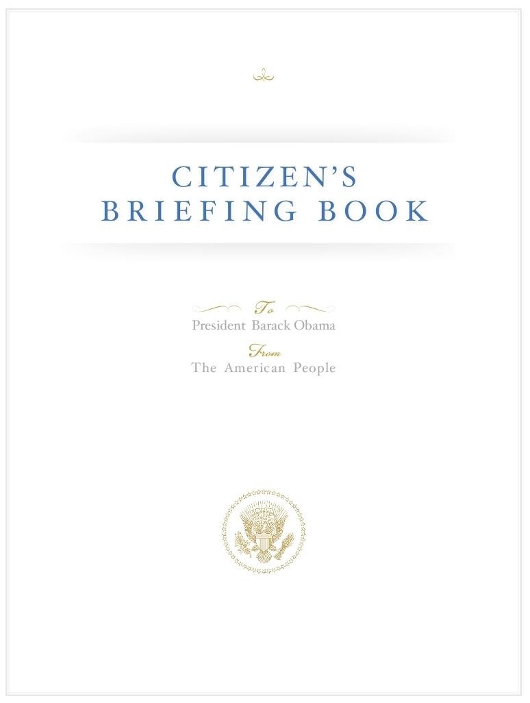 Citizen U0026 39 S Briefing Book