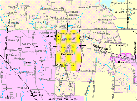 FileDetailed Map Of Uniontown Ohiopng Wikimedia Commons - Detailed map of ohio
