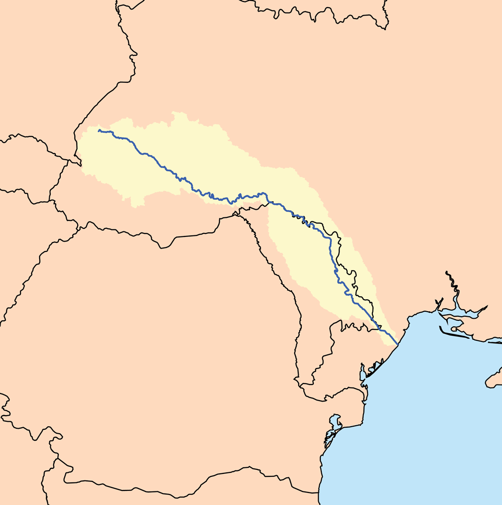 dniester river map