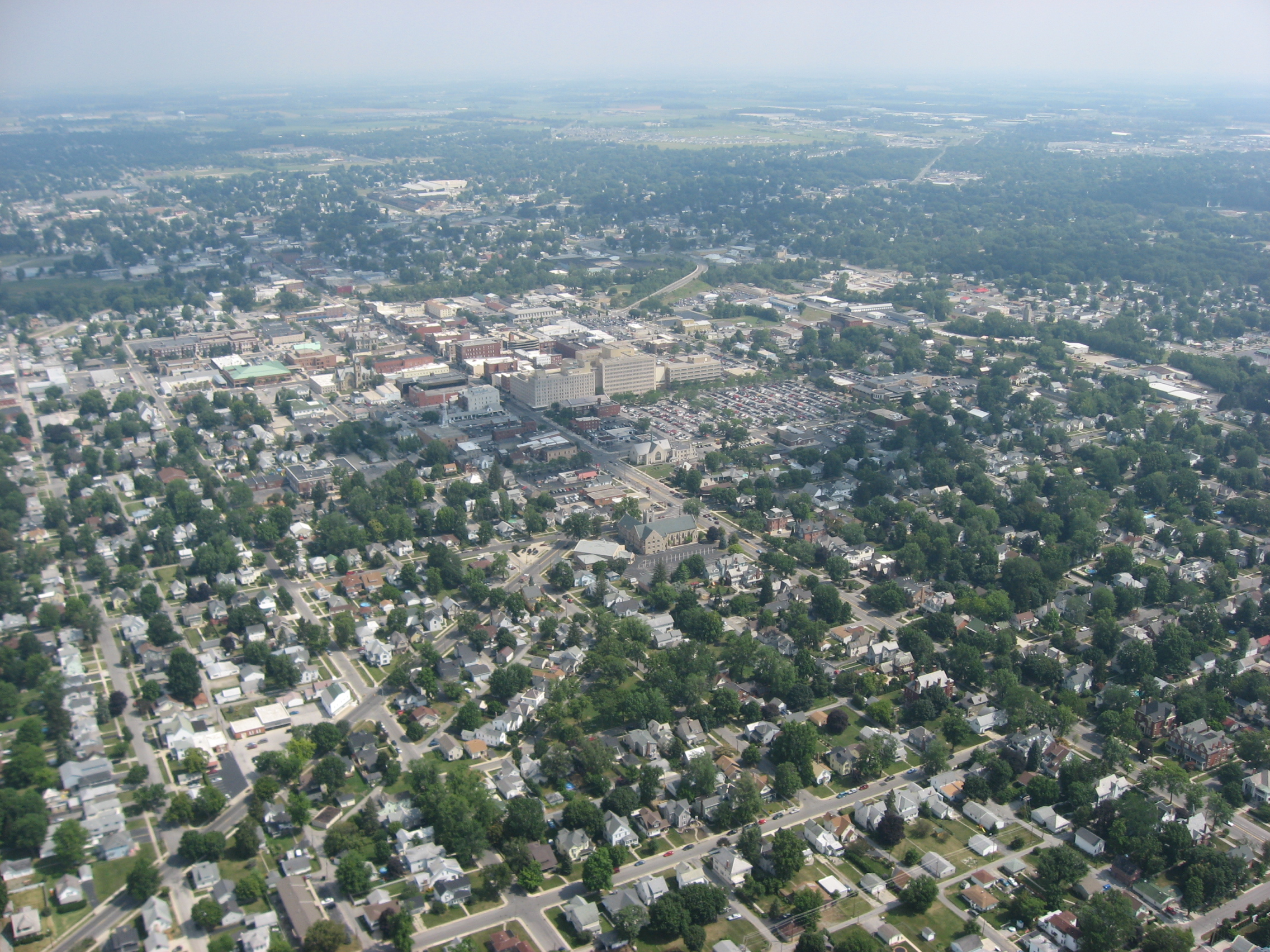 findlay ohio familypedia fandom powered by wikia aerial view of downtown findlay