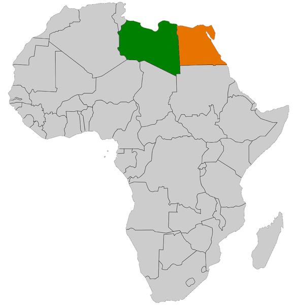 EgyptLibya Relations Wikipedia - Map of egypt libya