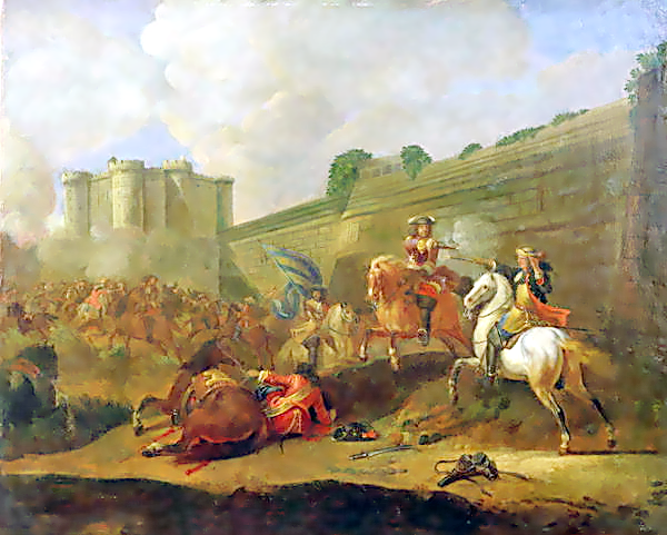 پرونده:Episode of the Fronde at the Faubourg Saint-Antoine by the Walls of the Bastille.png