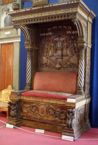 Throne of Emperor Haile Selassie