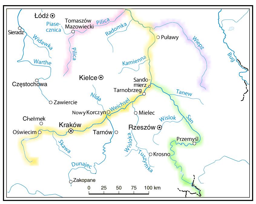 File Flusse In Polen Farbig San Pilica Wiepz Weichsel Png