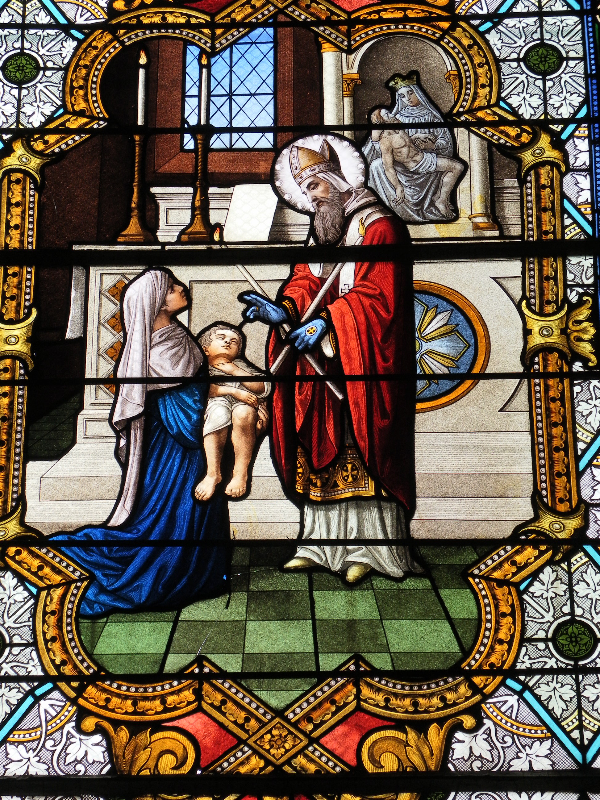 https://upload.wikimedia.org/wikipedia/commons/2/22/Fr_Chapelle_Notre-Dame-de-Lhor_Saint_Blaise_stained_glass_-_center_detail.jpg