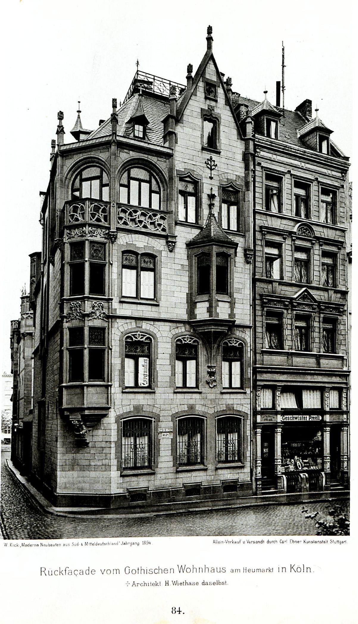 file gotisches wohnhaus am heumarkt in k ln architekt h. Black Bedroom Furniture Sets. Home Design Ideas