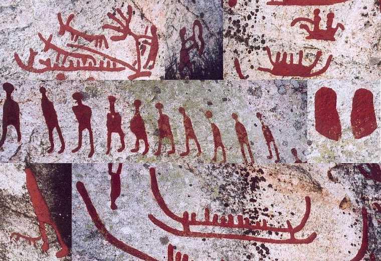 Petroglyphs from Halijesta, Sweden (Bronze Age)