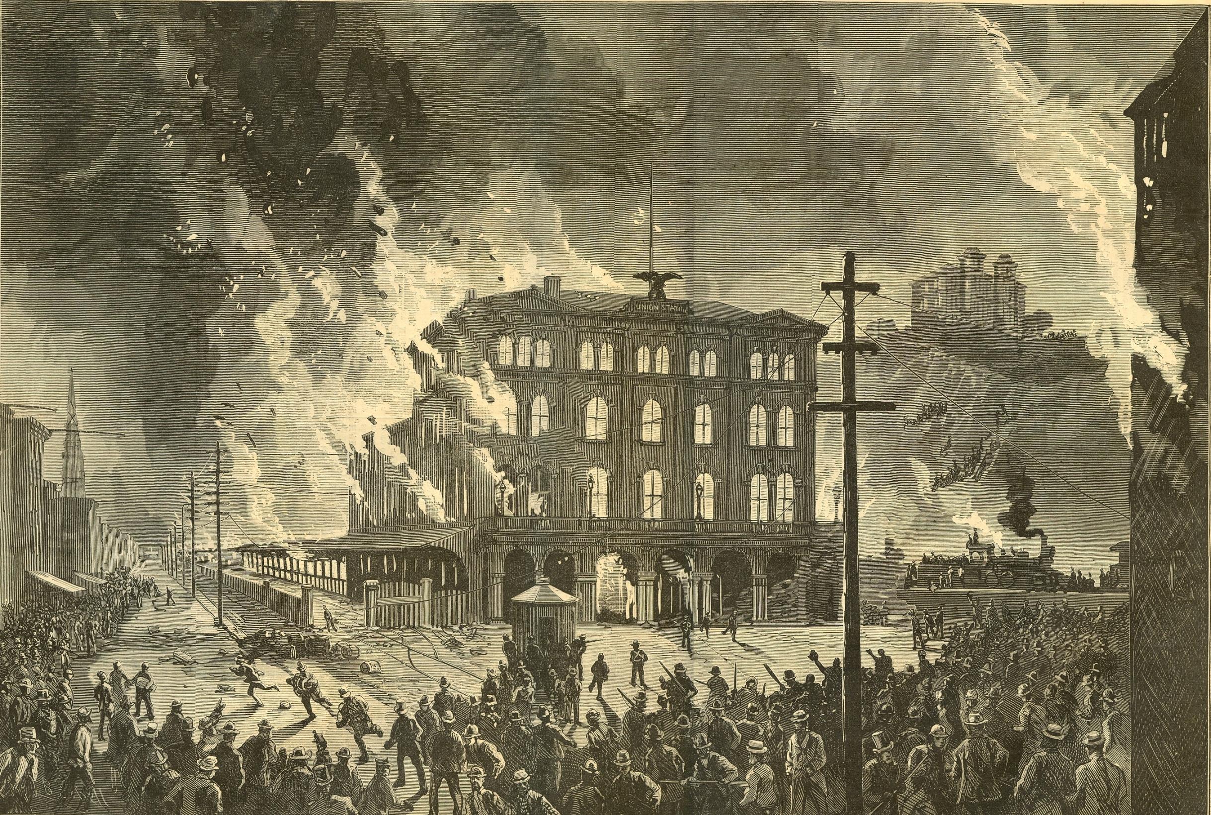 Destruction of the Union Depot, Pittsburg, August 11, 1877