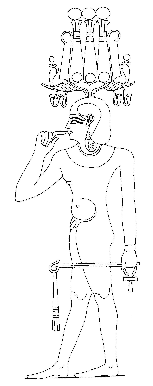 Heka als Gottheit (Wikipedia)
