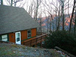 A holiday 'chalet' in the Blue Ridge Mountains