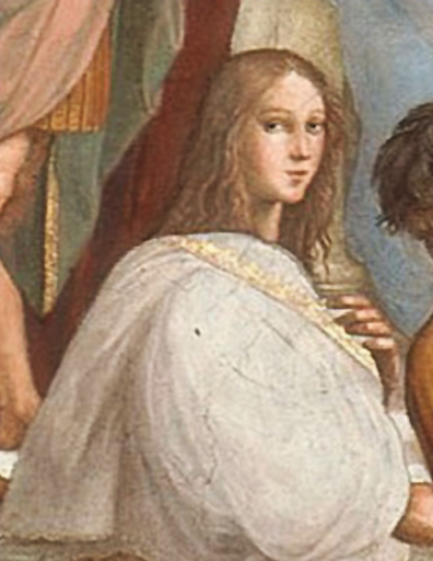 "Hypatia in ""The School of Athens"" - detail - by Raffaello Sanzio"