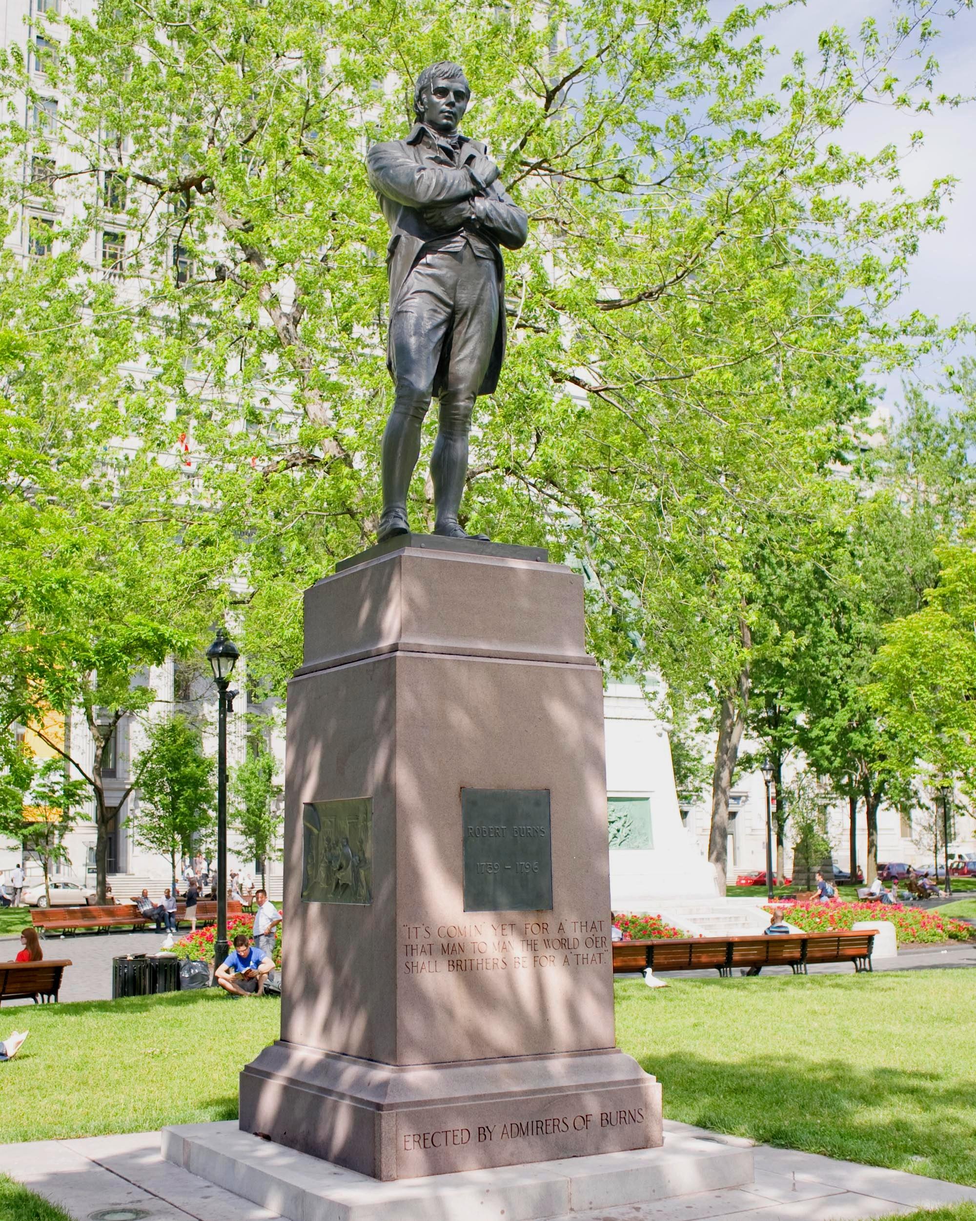 Robert Burns Statue, Montreal, Canada