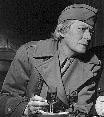 Janet Flanner during the [[liberation of Paris]], 1944