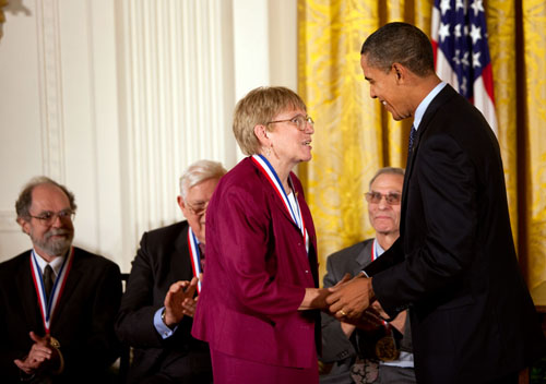 Stubbe receiving [[National Medal of Science]] in 2009