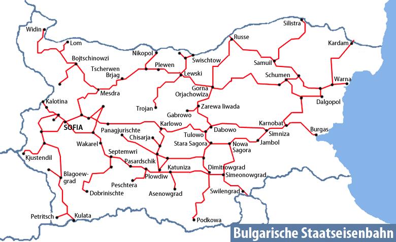 Karte Bulgarien.File Karte Bahnnetz Bulgarien Png Wikimedia Commons