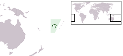 Location of Fiji