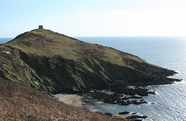 Maker with Rame, St Michael's Chapel, Rame Head - geograph.org.uk - 742291