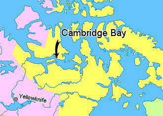 FileMap Indicating Cambridge Bay Hamlet Nunavut Canadapng - Where is cambridge