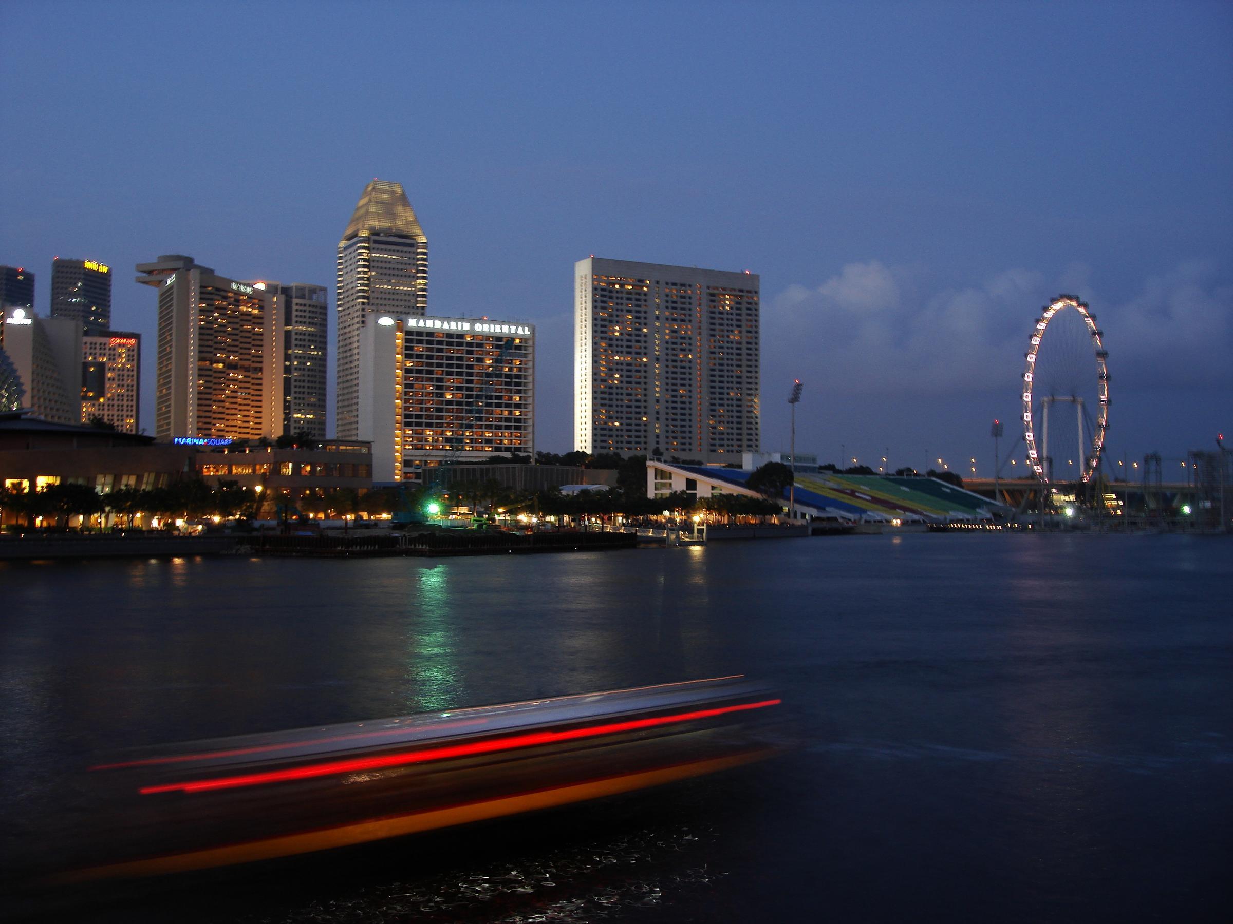 Archivo Marina Bay And The Singapore Flyer Jpg Wikipedia La