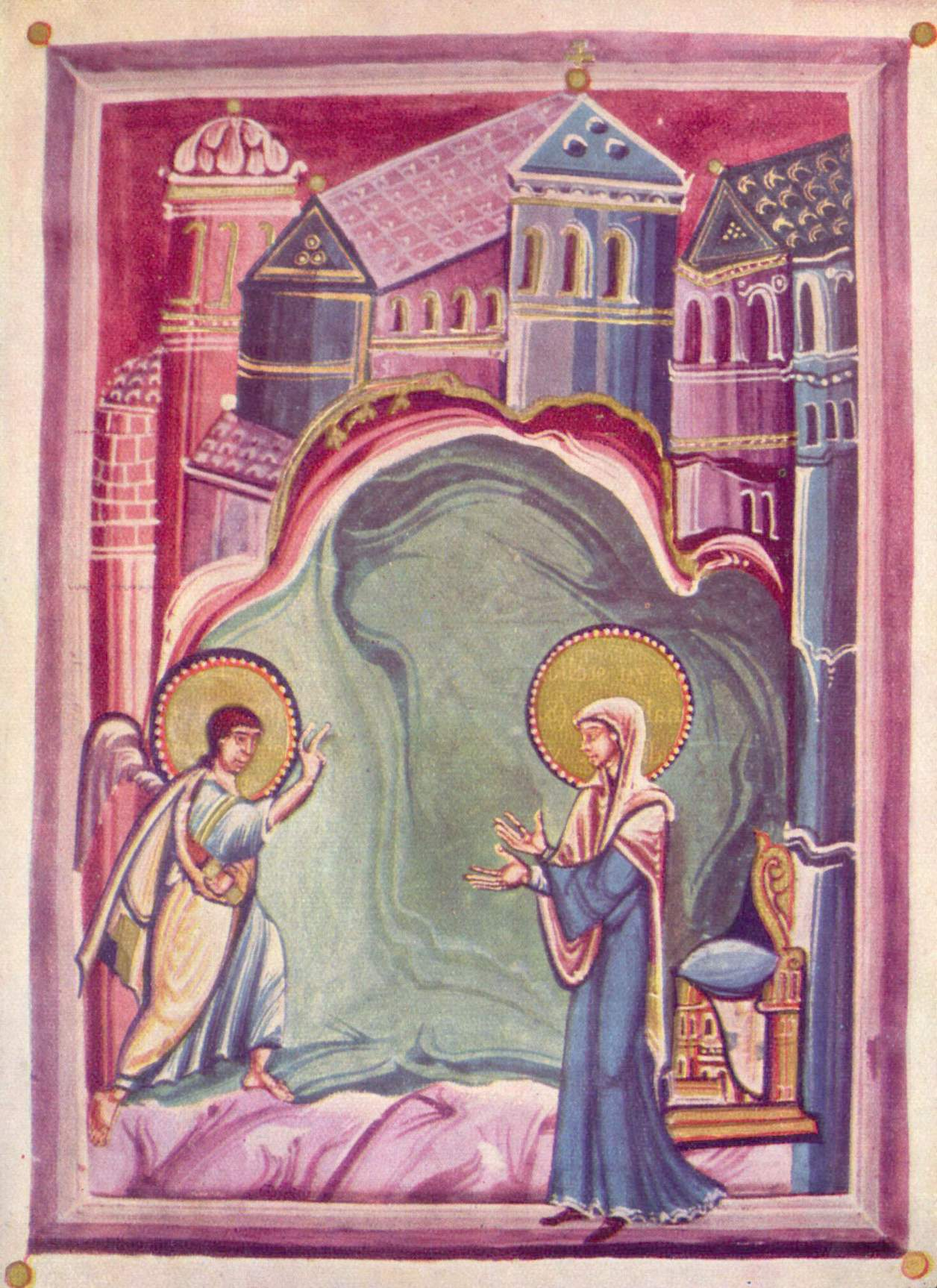 MEISTER des Sakramentars von St. Gereon Verkündigung, Ende 10. Jh.
