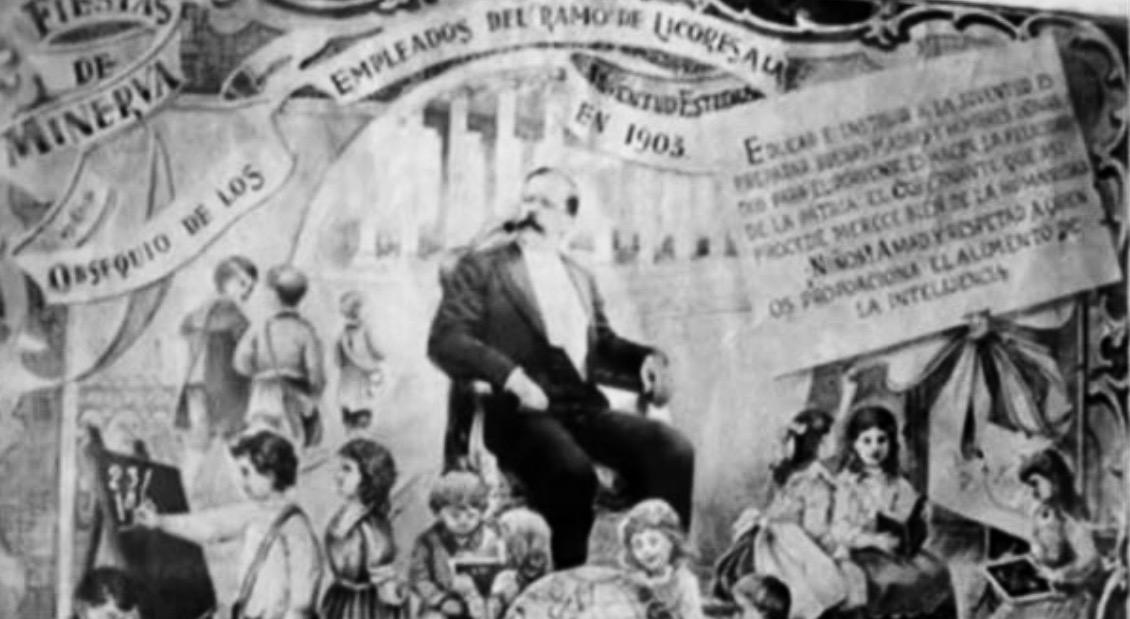 Celebración de las Fiestas Minervalias de Estrada Cabrera en 1903. Wikimedia Commons.
