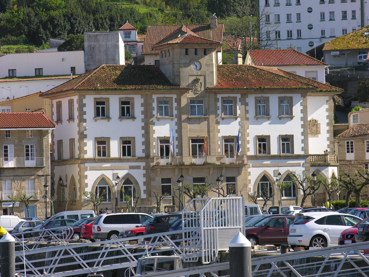 Galego: Casa do concello de Muros (Galicia) Es...
