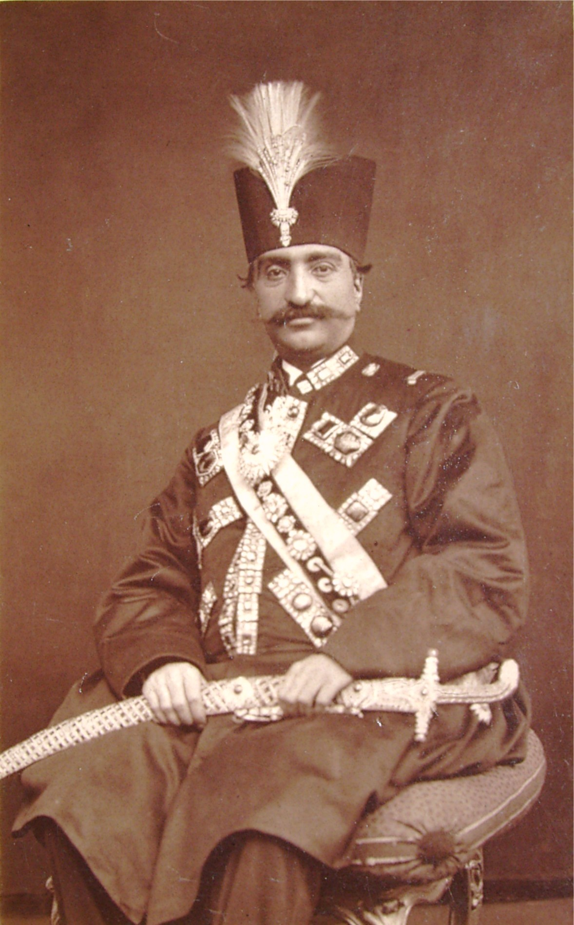 Image of Naser al-Din Shah Qajar from Wikidata