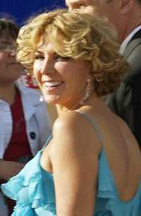 Natasha Richardson tijdens de filmpremière van The Chronicles of Narnia: Prince Caspian (2008).