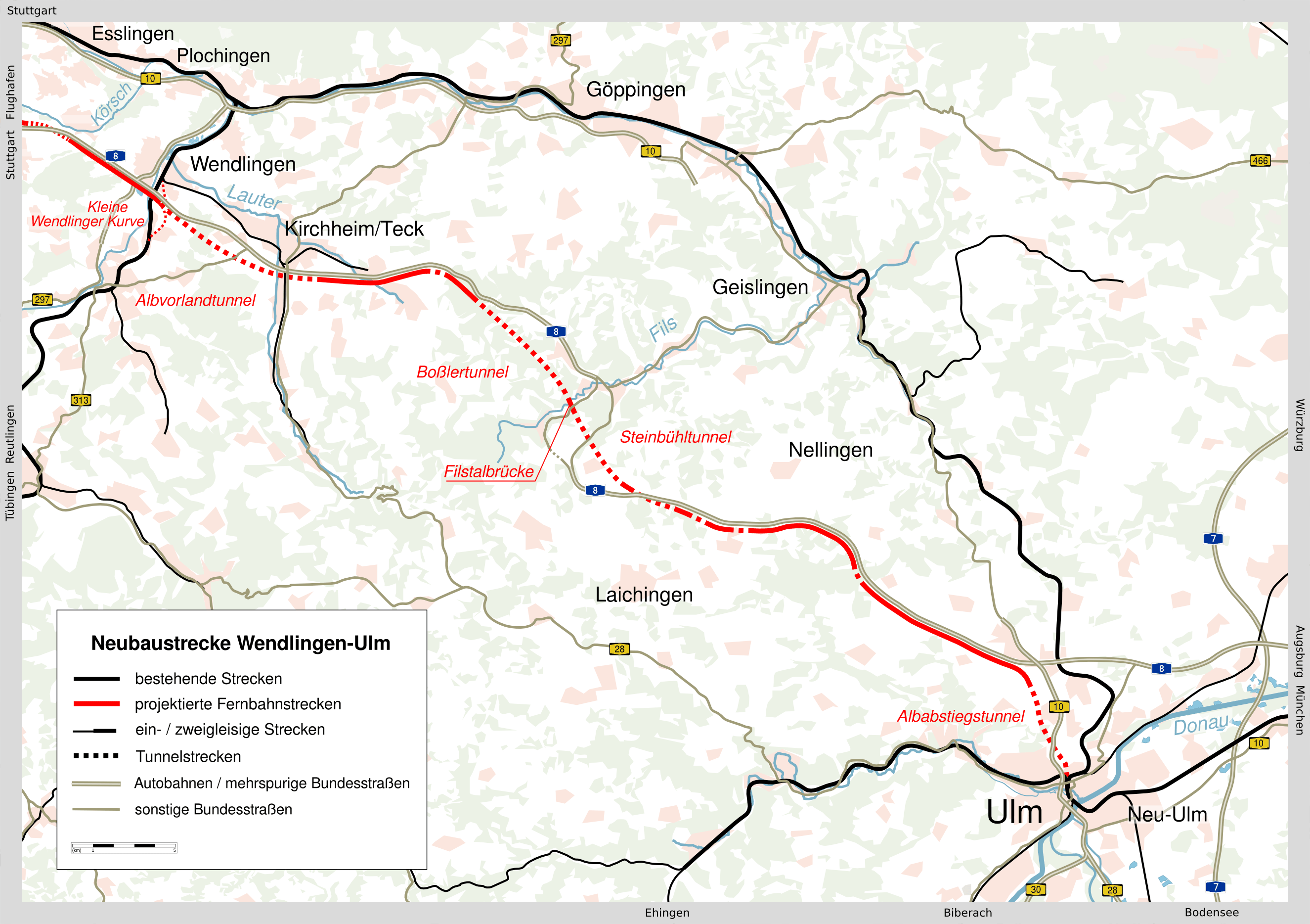 Neubaustrecke Wendlingenulm Wikipedia