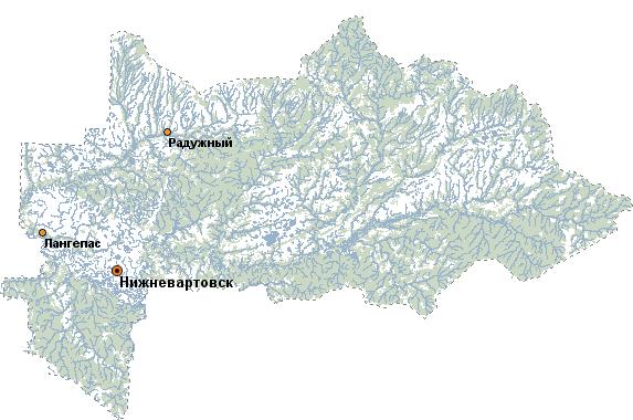 карт нижневартовского района