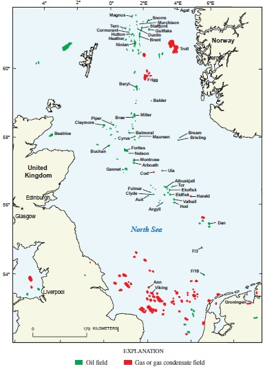 Map Of Uk Oil Fields.North Sea Oil Wikipedia