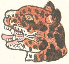 The Aztec day sign ocelotl (jaguar).
