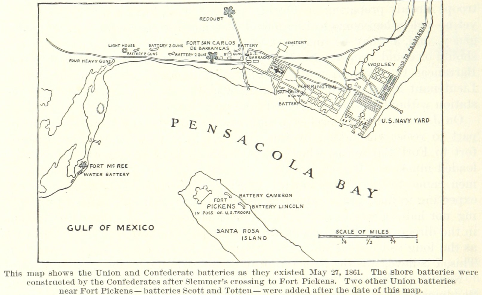 FilePensacola Bay May Jpg Wikimedia Commons - Map of us in may 1861