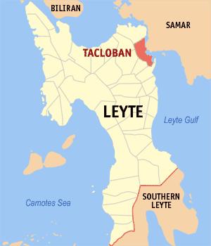 Tacloban city, map