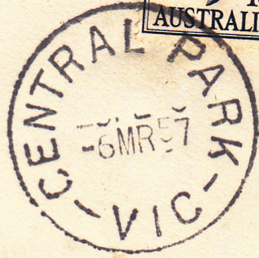 The Wikipedia article about File:Postmark Central Park Victoria.jpg.