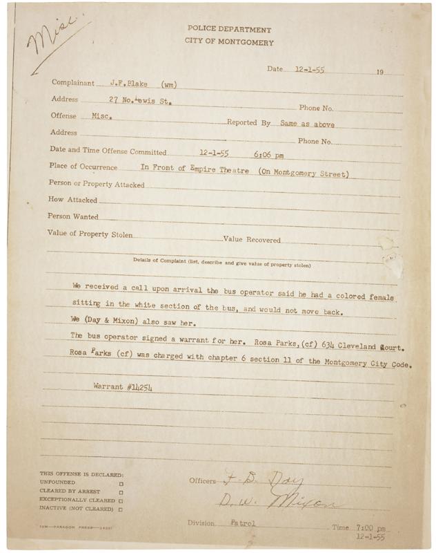 Rosa Parks Steckbrief