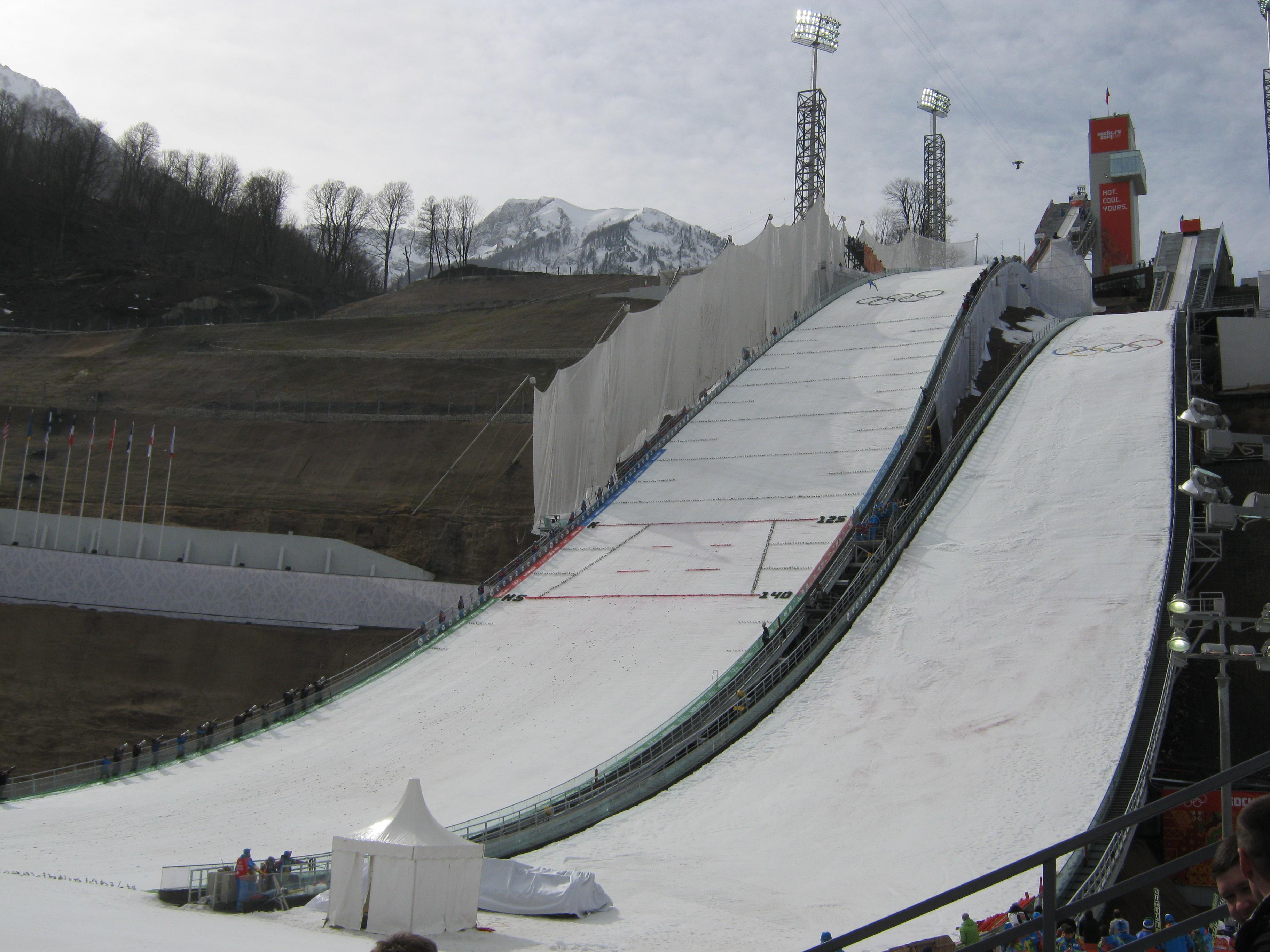 Znalezione obrazy dla zapytania krasnaja polana ski jump