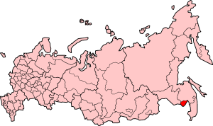 Jewish Autonomous Oblast on the map of Russia