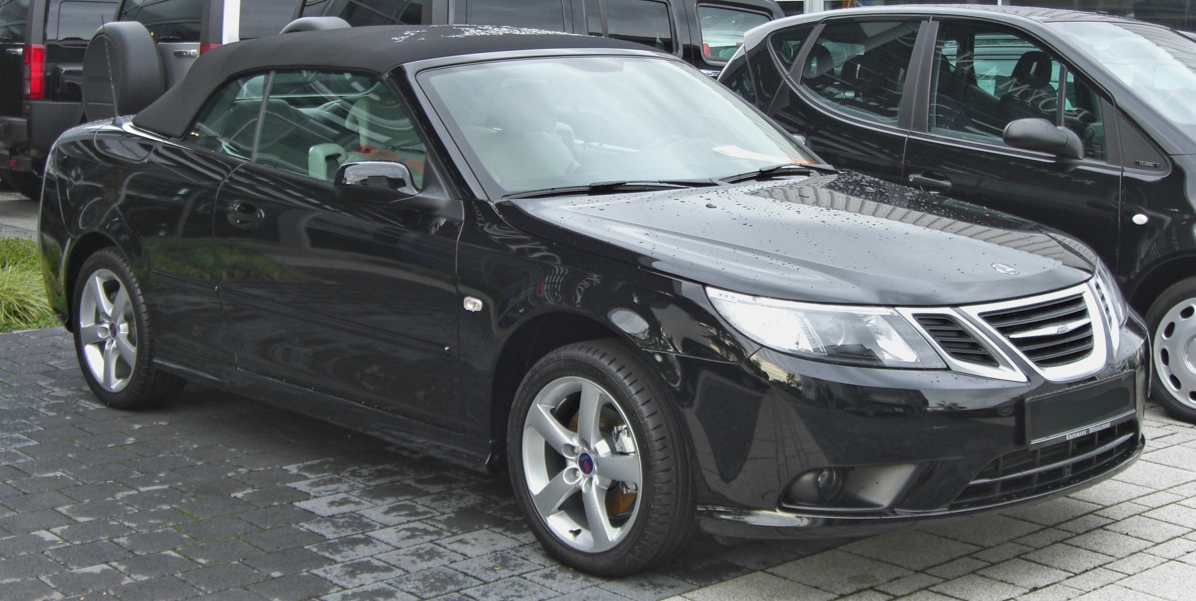 file saab 9 3 cabrio facelift front jpg wikimedia commons. Black Bedroom Furniture Sets. Home Design Ideas