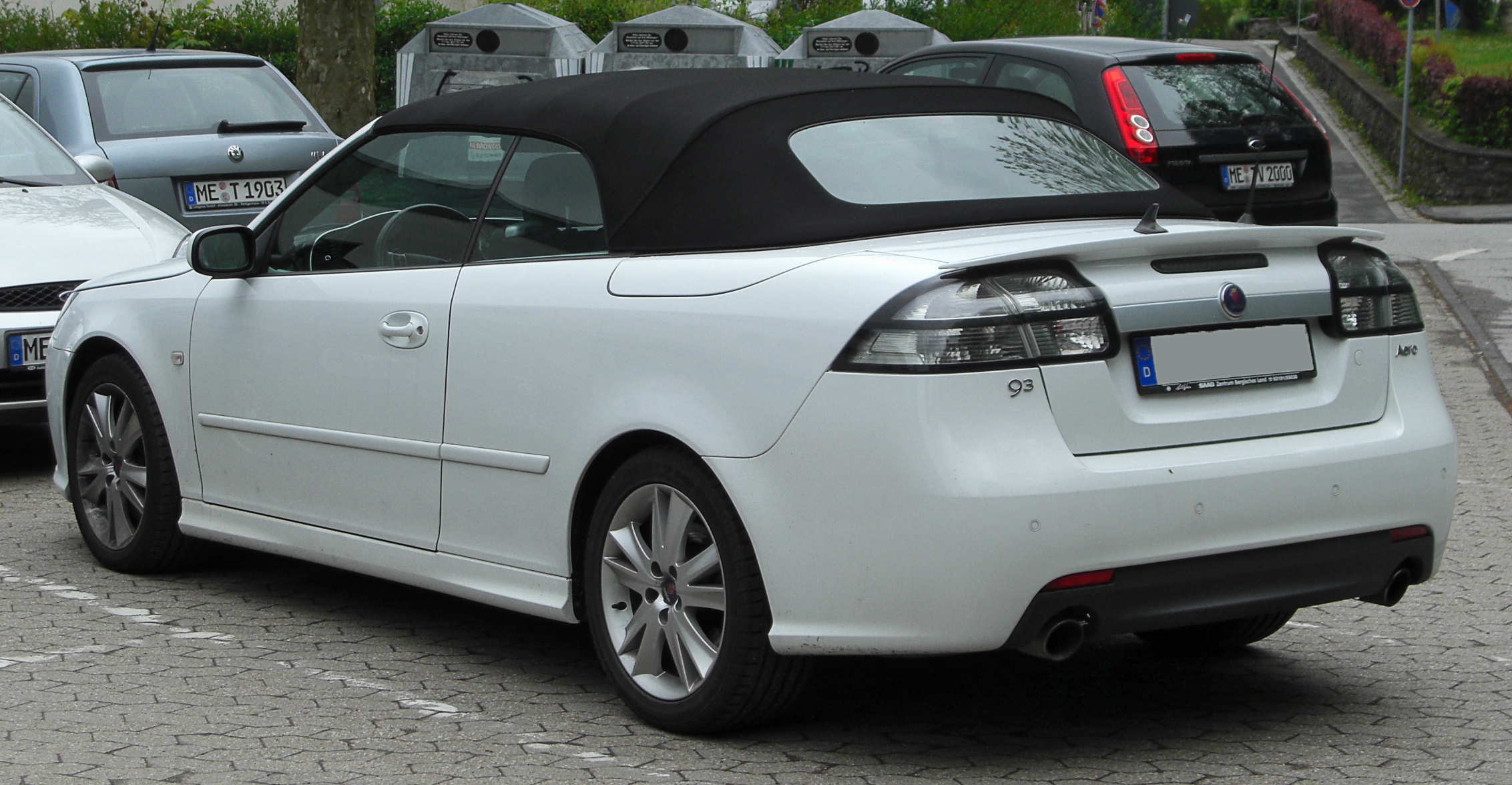file saab 9 3 cabrio aero ii facelift rear wikimedia commons. Black Bedroom Furniture Sets. Home Design Ideas