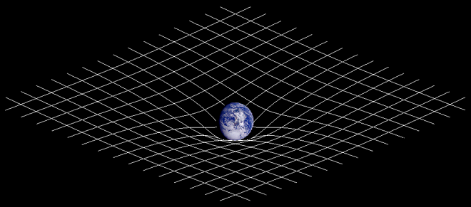 Spacetime curvature (from Wikipedia)