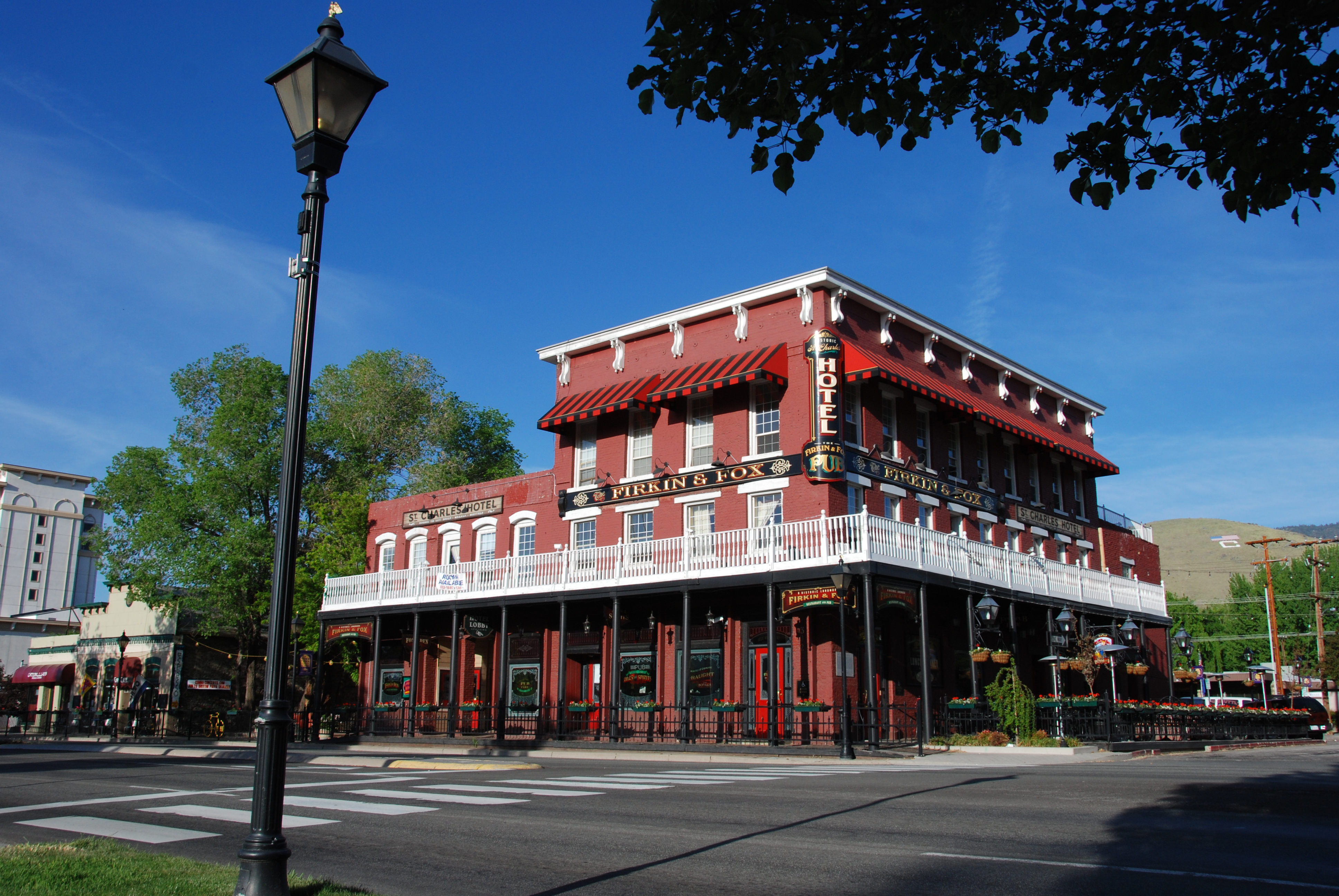 carson nevada nv st hotel charles capital silver cities muller file gold village historic street history location commons hotels wikimedia