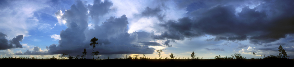Clouds over Everglades National Park