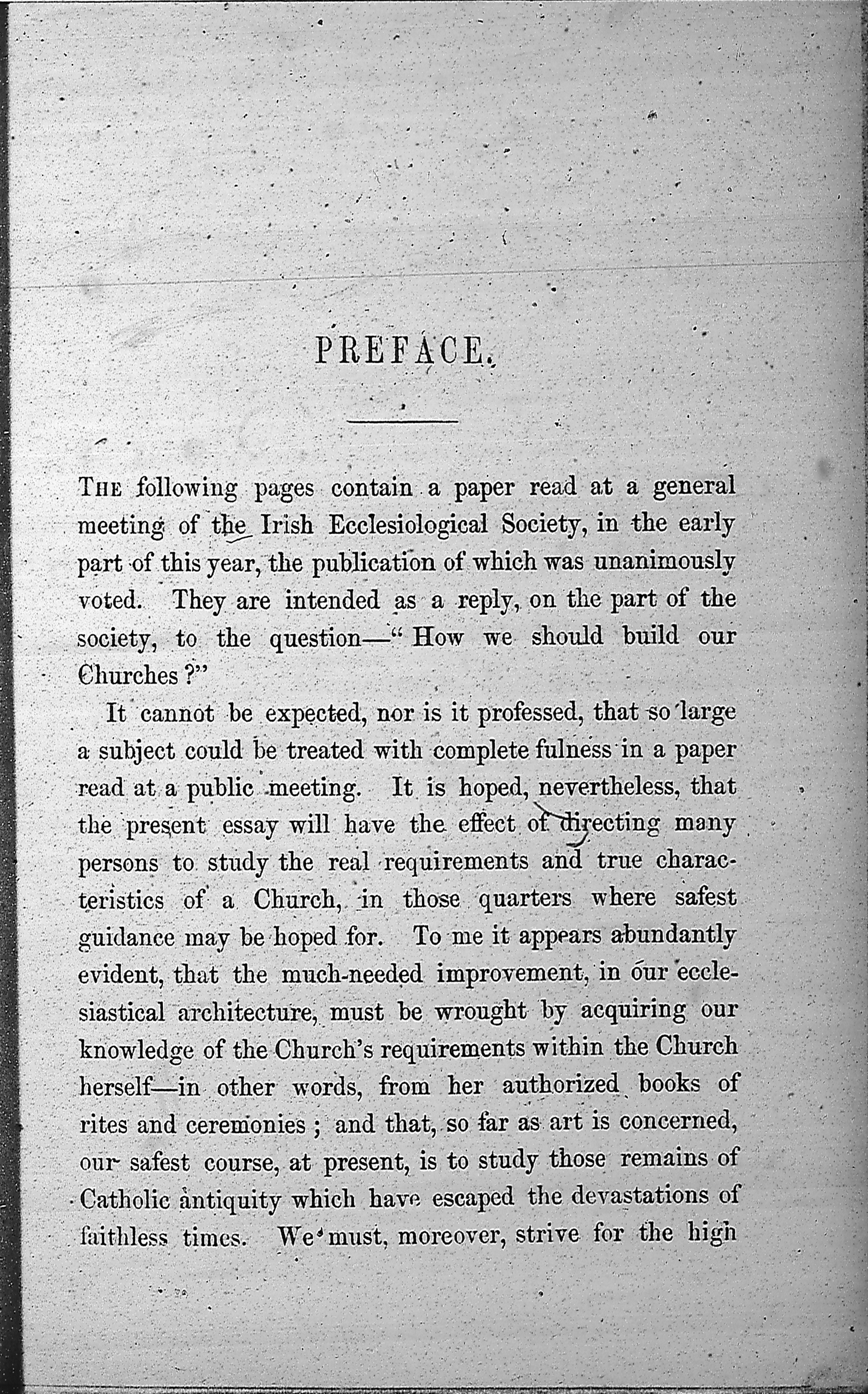 Suggestions on the Arrangement and Characteristics of Parish Churches Author J. J. McCarthy, drawings by Patrick Hanlon Start this Book Publisher James
